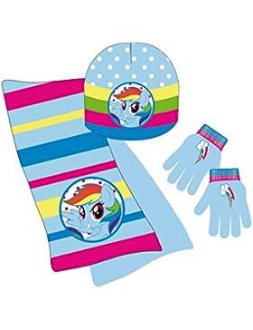 My Little Pony Set Mütze Schal Handschuhe Mädchen Größe Einheitsgröße von 2–6Jahre
