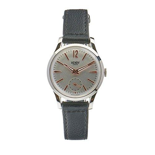 Henry London Unisex-Armbanduhr Highgate Analog Quarz Leder HL30-US-0001 (Zertifiziert und Generalüberholt)