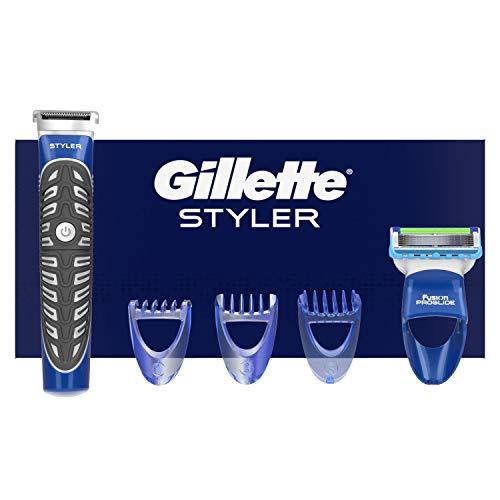 Gillette Fusion ProGlide Styler Rasoio Regolabarba 3 in 1, Regola, Rade e Rifinisce, Resistente All\'Acqua, 3 Regolatori di Lunghezza Intercambiabili, 2 mm, 4 mm, 6 mm
