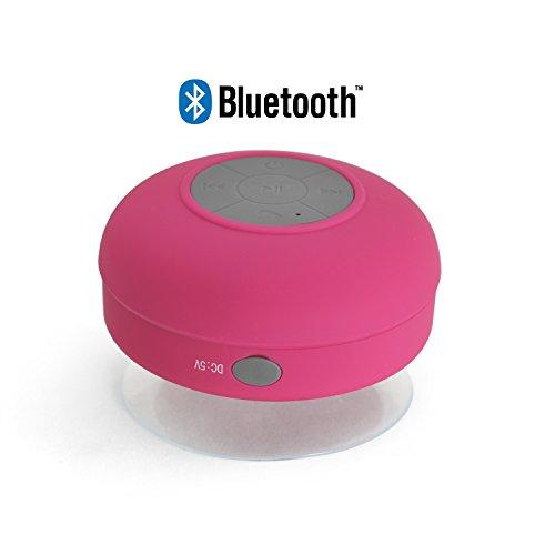 Incutex Bluetooth Lautsprecher Dusche Wireless Lautsprecher Badezimmer Bad Lautsprecher Bluetooth, pink