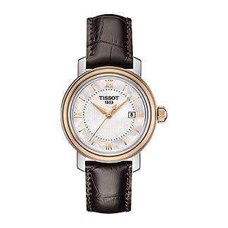 Reloj Tissot Bridgeport t0970102611800al cuarzo (batería) acero quandrante gris correa piel