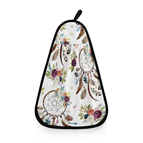 ALARGE - Toalla de Mano, diseño Tribal de Flores, atrapasueños, Secado rápido, Toalla para Colgar la Cara, paño de Limpieza para el hogar, Cocina, baño