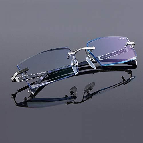 YMTP Reine Titan Randlose Diamant Schneiden Mann Brillengestell Optische Brillen Männer Brillen