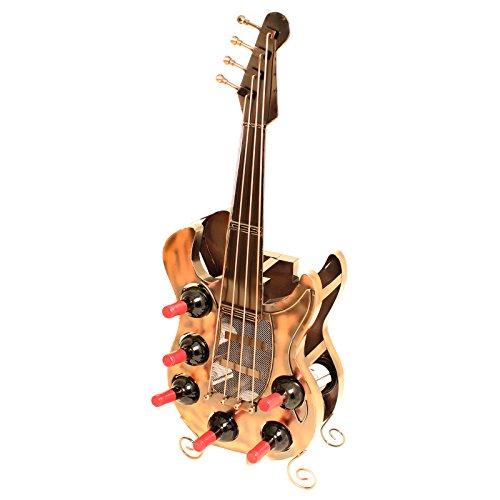 Brubaker Weinregal Gitarre für 6 Flaschen XXL Metall Skulptur 104 cm Höhe