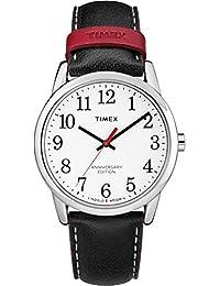 Timex TW2R40000 Herren-Armbanduhr mit Quarz-Uhrwerk, Analoganzeige und Leder-Uhrenband.
