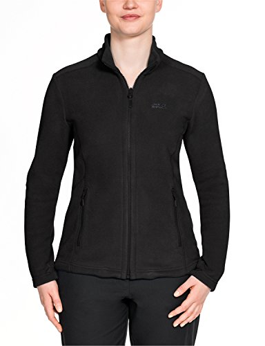 Jack Wolfskin Damen W Moonrise Jkt Fleecejacke, Black, XXL