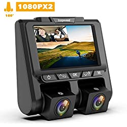 "TOGUARD Dual Dash Cam FHD 1080P+1080P Front and Rear Dashcam for Cars 3"" LCD 340° Dashboard Car Camera Dashcams with G-Sensor, WDR, Parking Monitor, Motion Detection for Uber Lyft Taxi"