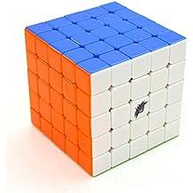 SsHhUu Colorful Cyclone Boys 5x5x5 Stickerless Speed Cube Rompecabezas Mágico del Cubo Mejor regalo de juguete educativo