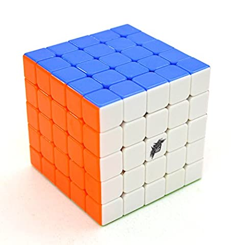 SsHhUu New Colorful Cyclone Boys 5x5x5 Stickerless Speed Cube Magic Cube Puzzle Educational Toy Special Toys