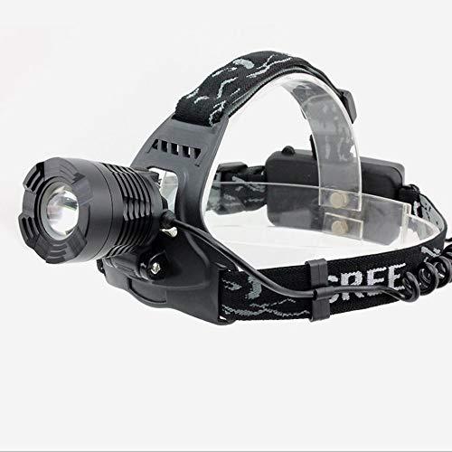QSBY Nachlesen Head Torch Regenschutz und Kratzfeste Scheinwerfer LED-Wanderabenteuer wesentliche Scheinwerfer können Scheinwerfer schwarz-weiß gelbes Licht aufgeladen Werden