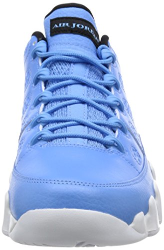 Nike Air Jordan 9 Retro Low, espadrilles de basket-ball homme Bleu - Azul (Unvrsty Bl / Unvrsty Bl-White-Bl)