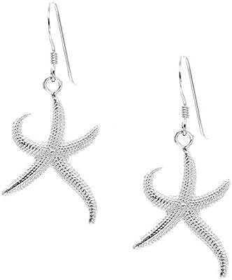 Silverly Pendientes Mujeres En Plata De Ley .925 Satinado Pulido Estrellas De Mar