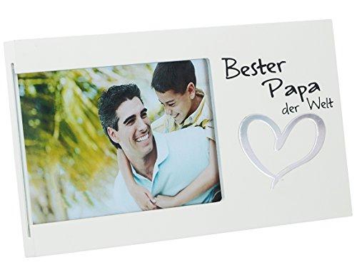 (Bada Bing Bilderrahmen Bester Papa der Welt Herz Fotorahmen Lieblingsmensch Vatertag Geschenk 93)