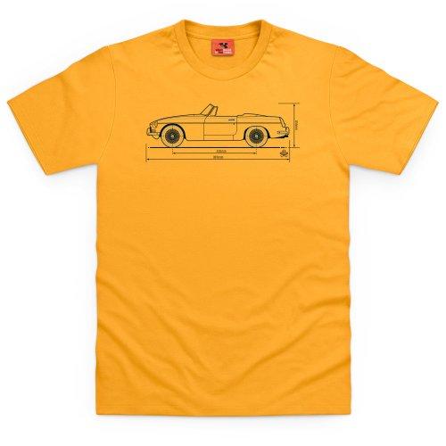 PistonHeads MGB T-Shirt, Herren Gelb