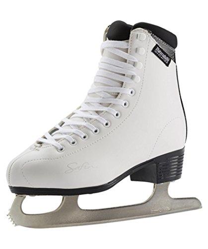 Tecnopro Damen Eiskunstlauf-Schuh Marina 1.0 Schlittschuhe, weiß/Silber, 40