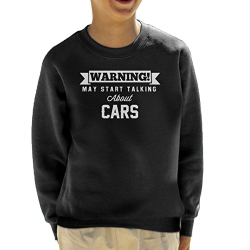 Coto7 Warning May Start Talking About Cars Kid's Sweatshirt (Rover Sweatshirt Range)