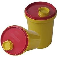 Preisvergleich für Kanülen Abwurfbehälter 1 Ltr. Kanülenbox Entsorgungsbox 1 Stück Kanülenabwurfbehälter Tiga-Med