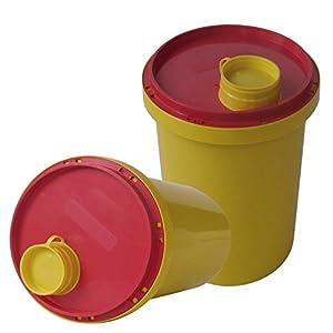Kanülen Abwurfbehälter 1 Ltr. Kanülenbox Entsorgungsbox 5 Stück Kanülenabwurfbehälter Tiga-Med