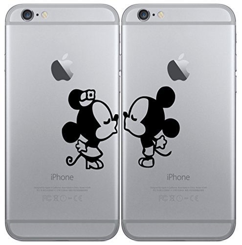 *Iphone 6 plus 1x Pärchen Sticker Maus Aufkleber Decal Apple*
