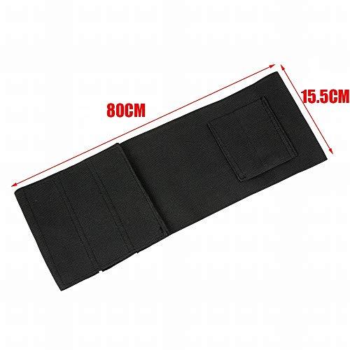 SHI-Y-M-QT, verdeckte Tragetasche Universal rechts/Links Pistolenholster mit 2 Magazintaschen schwarz (Color : 80cm)