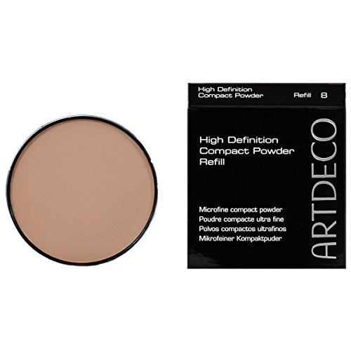 Artdeco Make-Up femme/woman, High Definition Compact Powder Refill Nummer 8 Natural peach (10g), 1er Pack (1 x 10 g)