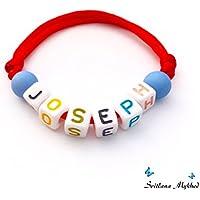 Bracciale con nome, nome, messaggio, iniziale, logo