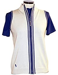 Glenmuir Ladies Orla Supersoft Cotton Gilet with Contrast Stripes 30% OFF