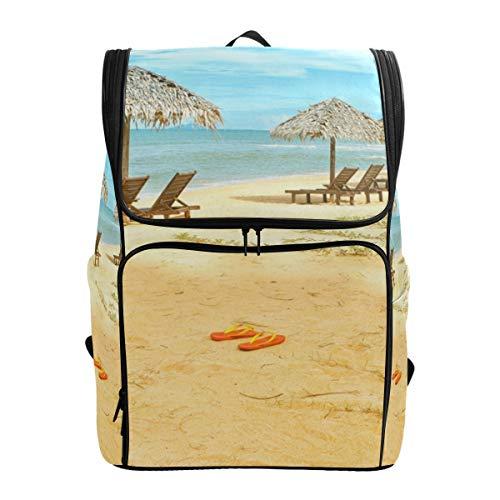 Rucksack Schultasche Reisetasche mit verstellbaren Schultergurten Strandstühle Hütte