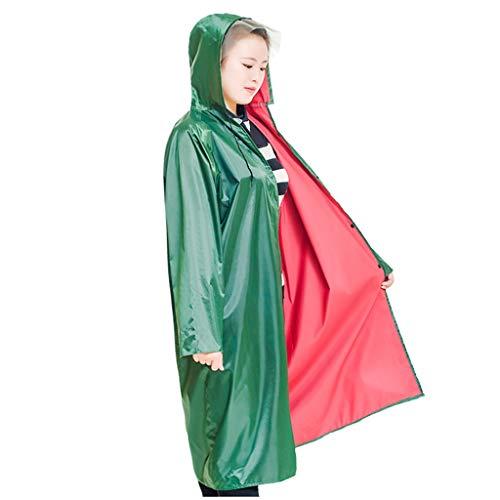 QIYUEYU Regenmantel, Erwachsener im Freien Langer Körper Regenmantel dicken Oxford Tuch Ärmeln Elektroauto Regenmantel (größe : XXL) (Lange Ärmel Tuch)