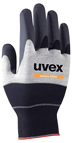 Uvex Synexo Z200 Gepolsterte Arbeitshandschuhe - Schwarz-Weiß - Gr 12 (3XL) -