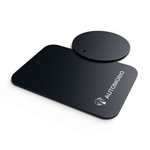 Automobio (TM) – 2 Metallplatten zur Verwendung mit der magnetischen Automobio Handy-Halterung