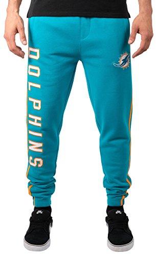 Icer Marken Herren jfm2847F NFL Active Varsity Stripe Team Farbe Fleece Jogger Pants, Herren, JFM2847F, Aqua Blue -