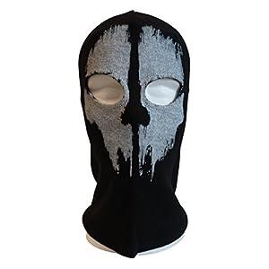 BandanaGuru Sturmmaske Totenkopf Motiv Schädel Sturmhaube Call of Duty Ghosts Balaclava Gesichtsmaske Motorradmaske Windmaske für Outdoor Sport Paintball