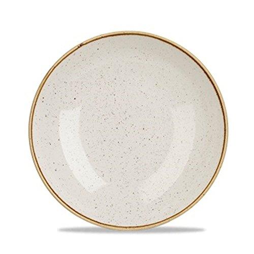 Churchill Assiette Creuse Ronde en Porcelaine Blanc Stone diamètre 25 cm Lot de 6 pièces, diamètre 250 mm