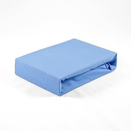 Jersey Kinder Baby Spannbetttuch 60 x 120 cm blau Laken Bettlaken Babybett Spannbettlaken Betttuch