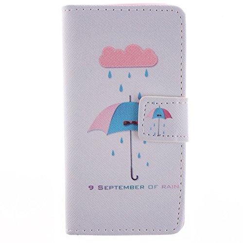 MOONCASE iPhone 5C Case Dessin Coloré Coque en Cuir Haute Qualité Portefeuille Housse de Protection Étui à rabat Case pour iPhone 5C -LK16 ST08
