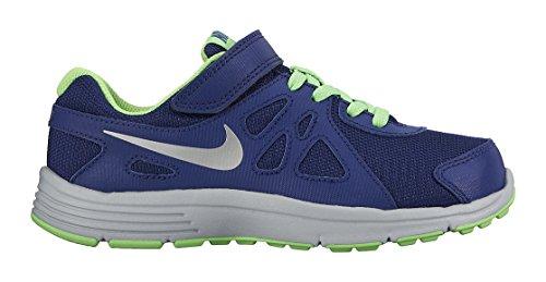 Nike Revolution 2 Psv 555083 Jungen Laufschuhe Blau / Silberfarben / Grau (Dp Ryl Bl / Mtllc Slvr-Wlf Gry-G)