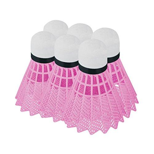 Set Badmintonbälle Badminton Ball Plastik Federball 6 Stk. FLAME Spokey