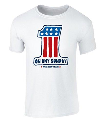 On Any Sunday, Teufelskerle auf heißen Feuerstühlen, One Flag, USA Flagge, Amerika Flag Grafik Herren T-Shirt, offiziell lizenziert von Bruce Brown Films, S - XXL White