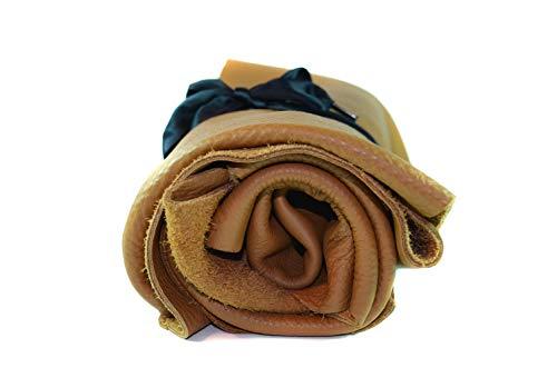 Lederstücke - Lederreste aus verschiedenen braunen Farbtönen, Leder Zuschnitt, Extra Große Stücke, Hochwertig zum Nähen, Lederverarbeitung, Textilien, Basteln, Beziehen, Deko, 1Kg - mind. DIN A4