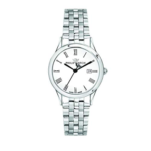Philip Watch Women's Watch, Marilyn Collection, Quartz Movement and Three Hands Version with Date, Equipped with a Stainless Steel Bracelet - R8253211501