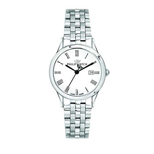 Philip Watch Orologio da donna, Collezione Marilyn, con movimento al quarzo e funzione solo tempo con data, in acciaio - R8253211501