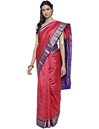 The Chennai Silks silk with blouse piece Saree (CCMYSS8819_ Red_ Free Size)