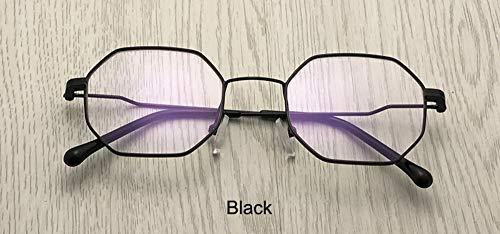 Sonnenbrille Retro Frauen Platz Brillengestell Classic Men Klare Linse Optische Gläser Blaue Strahlen Schutz Schwarz Matt