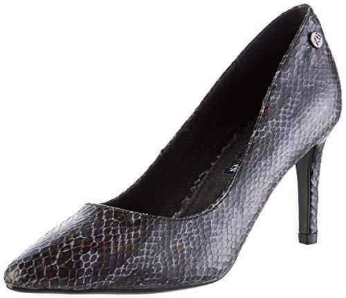 XTI 35141, Zapatos de tacón con Punta Abierta para Mujer, Negro Negro Negro, 40 EU
