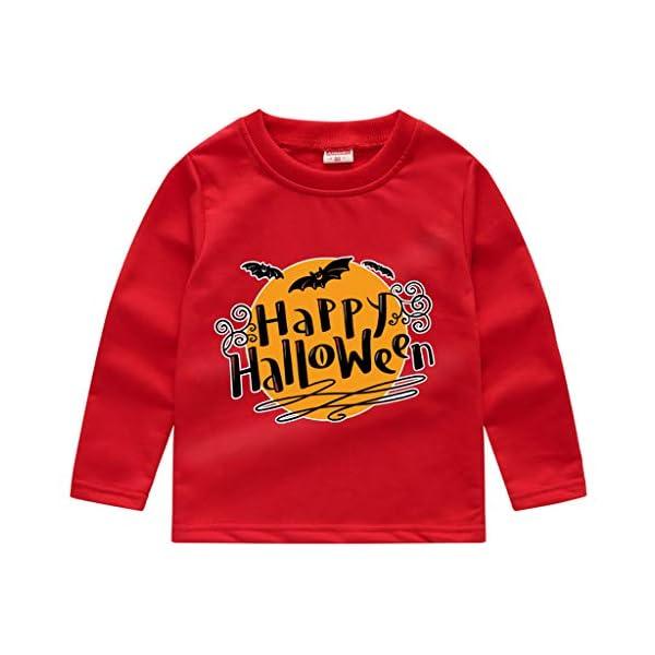HAOHEYOU T Shirt Tops NiñIto Bebé NiñOs Muchachos Chicas VíSpera De Todos Los Santos ImpresióN Camisa De Entrenamiento… 3