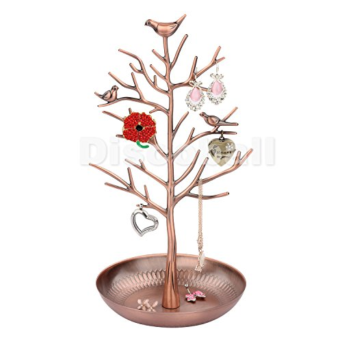 discoball-jewellery-display-stand-holder-new-antique-silver-bronze-birds-tree-earring-necklace-brace