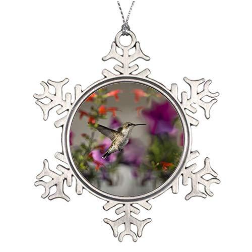 YANAN Birds Hummingbirds Flowers Focus Ornaments Custom Pendant Decorative Souvenirs Mobile Phone Decorative Handbags Decorative Metal Snowflake Ornaments -