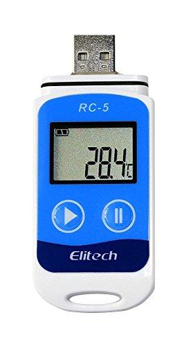 USB-Temperatur-Datenlogger 32000, hohe Genauigkeit, Rekorder, Blau