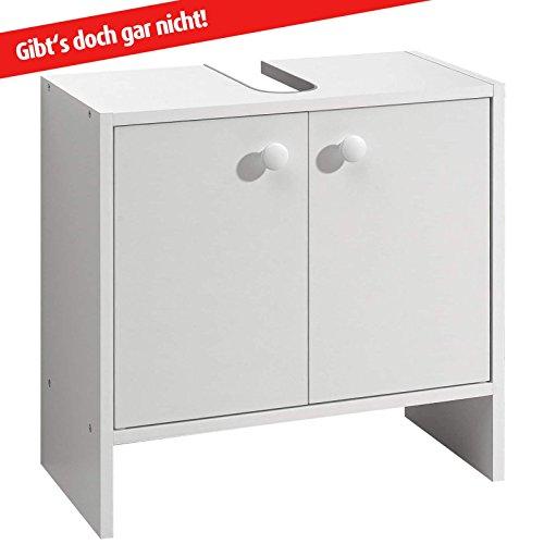 ROLLER Waschbeckenunterschrank - weiß - mit Syphonausschnitt